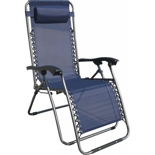 Baštenska podesiva stolica sa jastukom Messina Plava