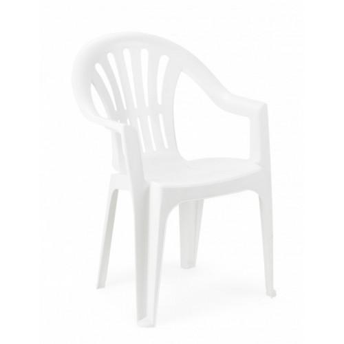 Baštenska stolica Kona plastična bela