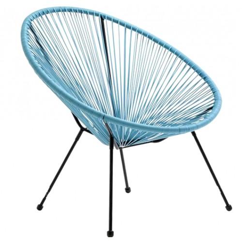 Baštenska stolica Lounge plava