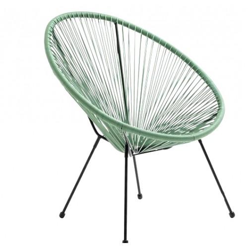 Baštenska stolica Lounge zelena