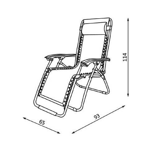 Baštenska stolica sa jastukom Messin bež/crna