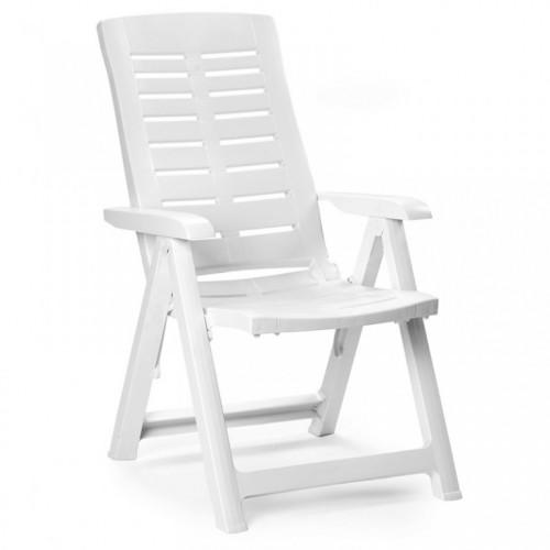 Baštenska stolica Yuma bela plastična