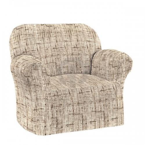 Bielastična presvlaka za fotelju Tela Naturale