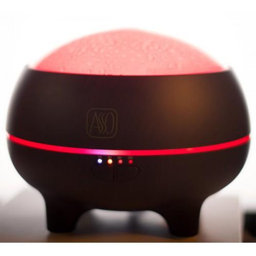 Bluetooth Ovlaživač vazduha Aroma difuzor u boji tamnog drveta sa LED osvetljenjem