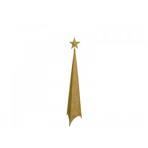 Shiny svetlucava jelka 150cm zlatna