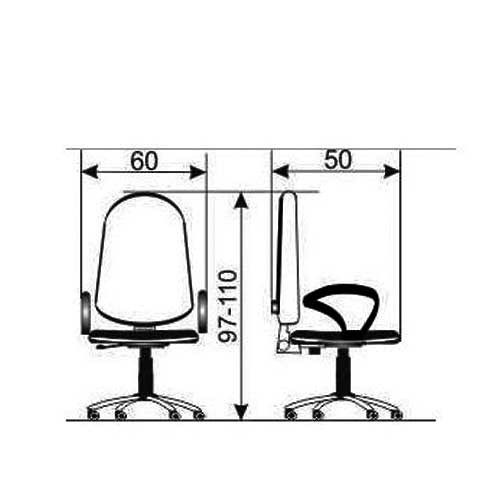 Daktilo stolica M 170 cp/pvc