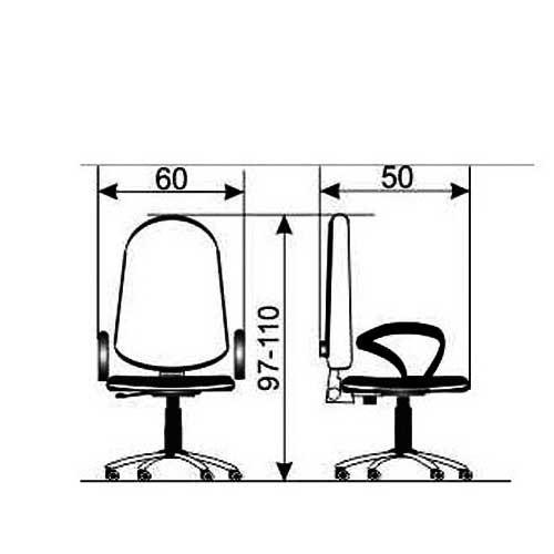 Daktilo stolica M 170 cp/pvc/pvc