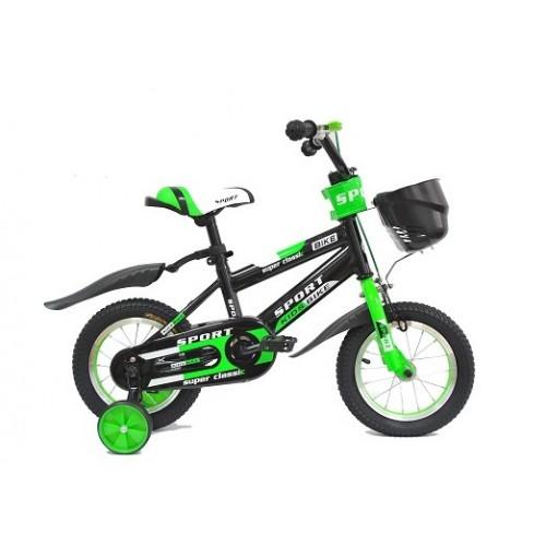 "Dečiji bicikl 12"" sport 701 crno zeleni"