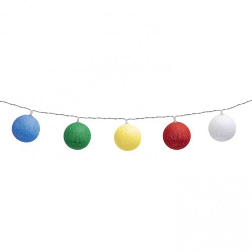 Dekorativni LED niz sa pamučnim kuglicama 1.8 m CBL11/M