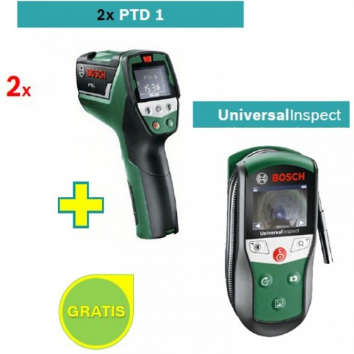 Detektor temperature i vlažnosti PTD 1 2 kom sa poklonom Bosch Universal Inspect