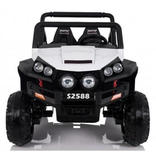 Džip na akumulator Quad Bagi beli sa mekim gumama i kožnim sedištem