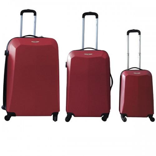 Set ABS kofera Enova Valencia 3/1 crveni 513.240.24