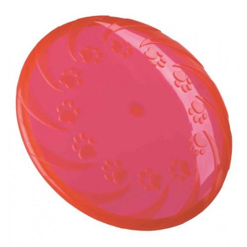 Frizbi od termoplastične gume 22 cm crvena