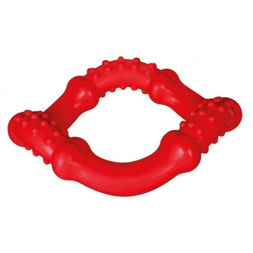 Gumeni prsten igračka za pse 15 cm Crvena