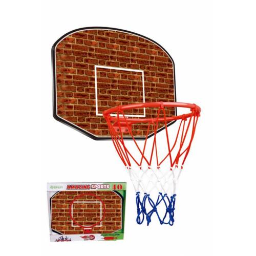 Košarkaška tabla sa obručem i loptom za decu