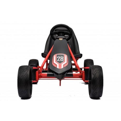 Karting - Formula Champion na pedale crna sa mekim gumama