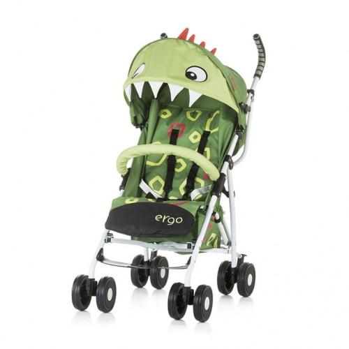 Kišobran kolica za bebe Ergo 6m+ Chipolino Green Dino