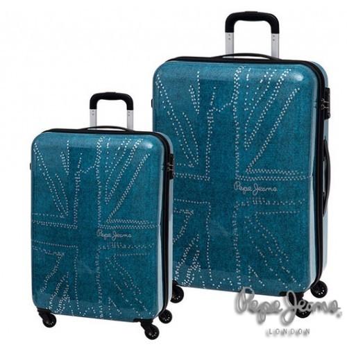 ABS set kofera 55/70cm Blue Metal Flag