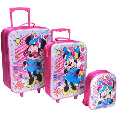 Komplet-2 Kofera i Ranac Za Predškolce Minnie Mouse