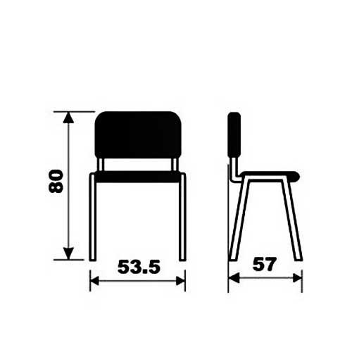 Konferencijska stolica M 410 tapacir