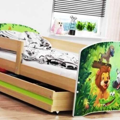Dečiji krevet Lookie Pine 160x80 cm sa dušekom dezen 07