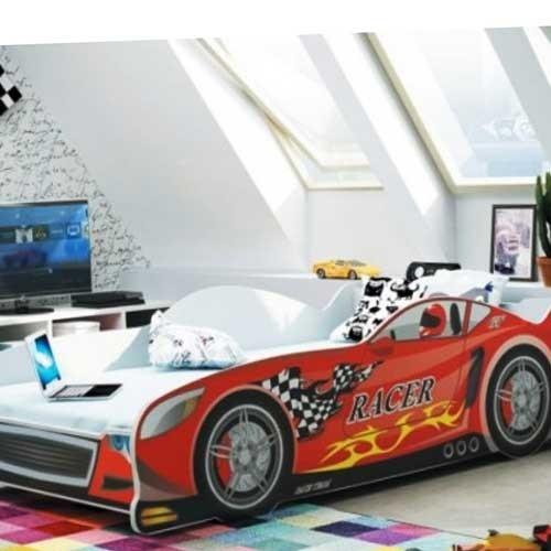 Dečiji krevet Racer crveni 160x80 cm sa dušekom