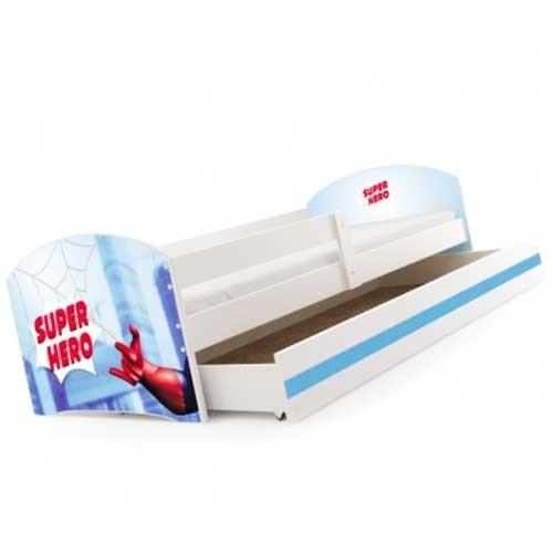 Dečiji krevet Lookie White 160x80 cm sa dušekom dezen 09