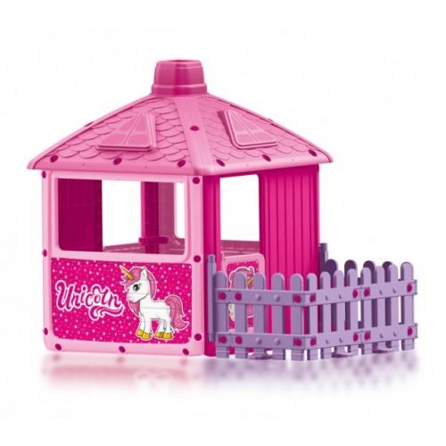 Kućica za decu sa ogradom Dolu Unicorn