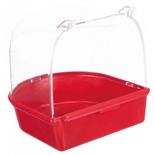 Kućica za kupanje 14x14x15cm crvena