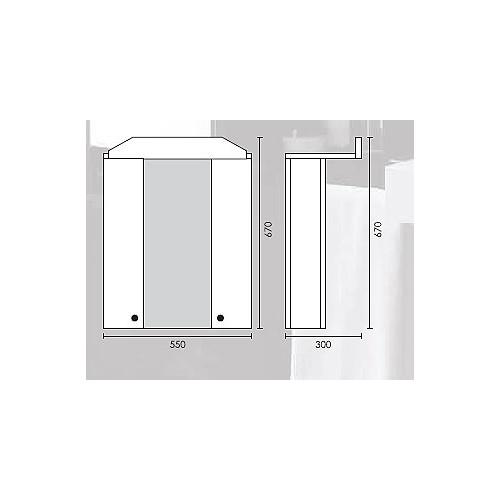 Kupatilski Ormarić Sa Ogledalom Ž-3