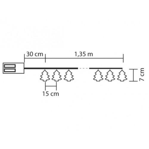 Lampice za jelku Jelkice sa 10 LED dioda KLM10/T