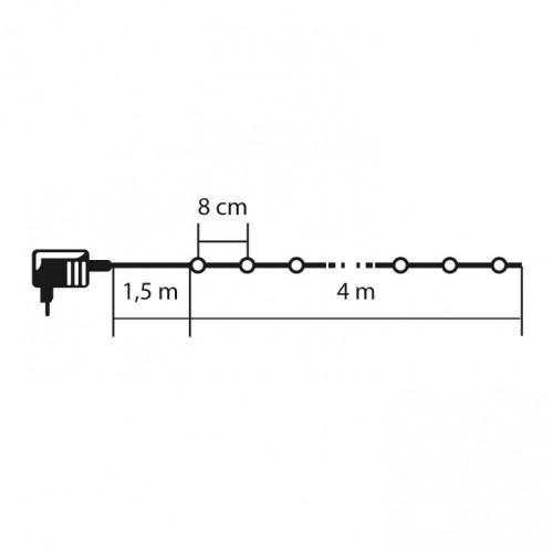 Lampice za jelku sa 50 LED dioda Roze KII50/P