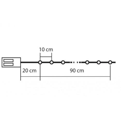 Lampice za jelku Zvezdice 10 LED dioda  MLC10/CS-WH