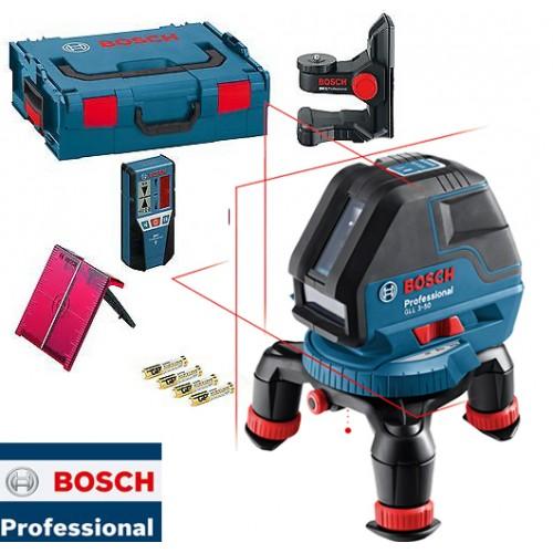 Laser za linije Bosch Professional GLL 3-50 + BM 1 + LR 2