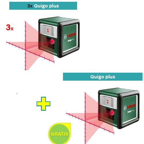 Laser za ukrštenje linije Bosch Quigo PLUS 3 kom + Quigo Plus GRATIS