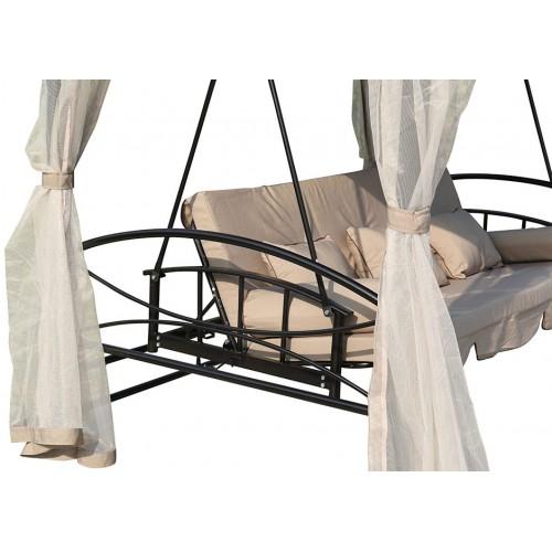 Ljuljaška za baštu 3 u 1 krevet sa tendom i baldahinima Coimbra