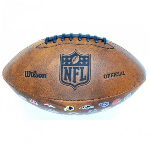 Lopta za ragbi Wilson NFL JR 32 Team Logo