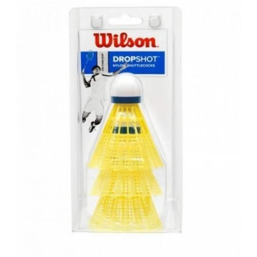 Loptice za badmintom Wilson Dropshot 3 Clamshell Yellow