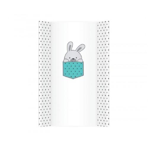 Meka Podloga za presvlačenje beba 70cm Little Bunnies Blue