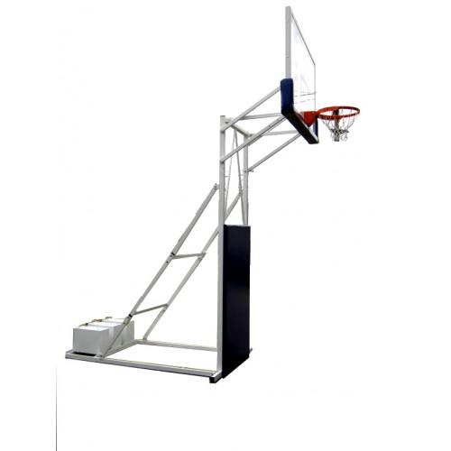 Mobilna košarkaška konstrukcija Olimp sa staklenom tablom 1800x1050 i zglobnim obručem