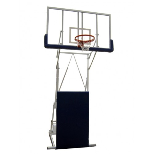 Mobilna košarkaška konstrukcija Olimp sa pleksiglas tablom 1800x1050 i zglobnim obručem