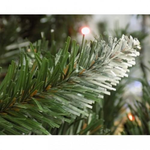 Zelena novogodišnja jelka sa belim vrhovima 350 cm