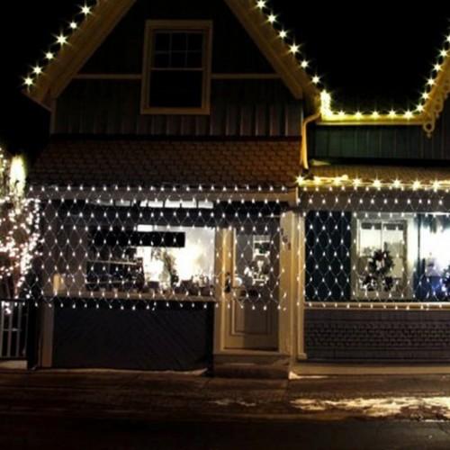 Novogodišnja LED svetleća mreža hladno bela 2x1m za spoljašnju i unutrašnju upotrebu