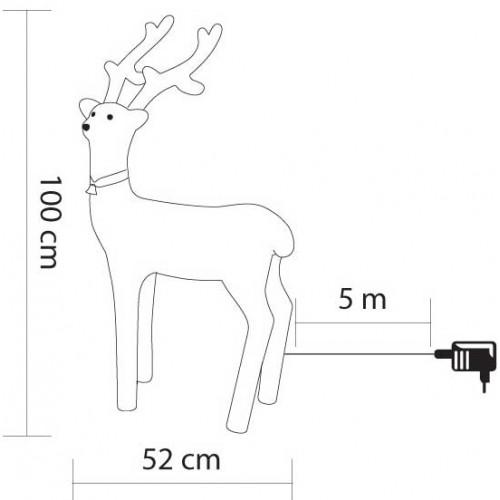 Novogodišnja Svetleća figura Irvas KDA5 100cm