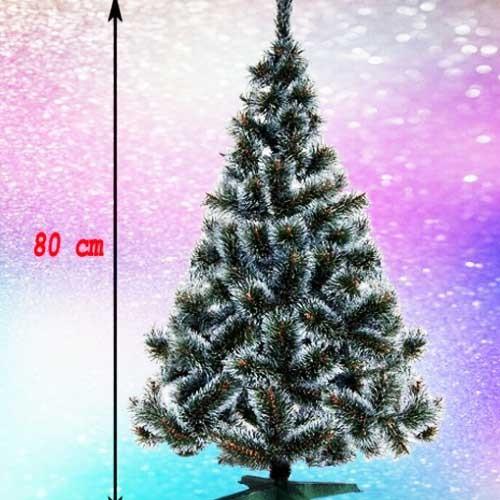 Gusta novogodišnja jelka Bor sa belim vrhovima 80 cm