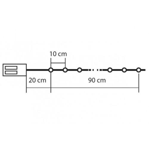 Novogodišnje lampice za jelku pahuljice 10 LED dioda MLC10/H