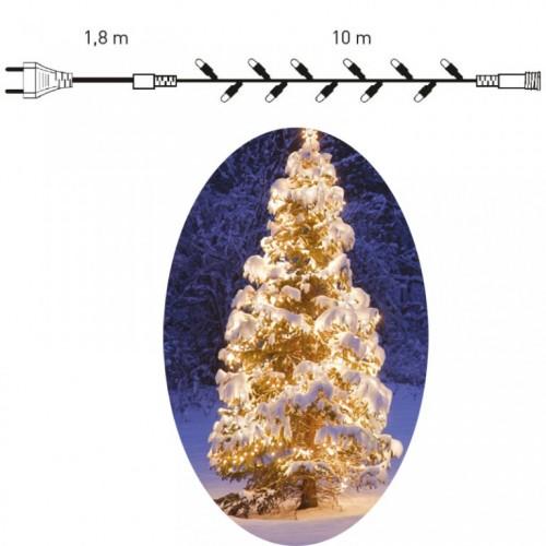 Novogodišnje LED lampice za spoljnu i unutrašnju upotrebu 10 m toplo bela