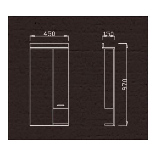 Ormar za kupatilo sa ogledalom K 450 G