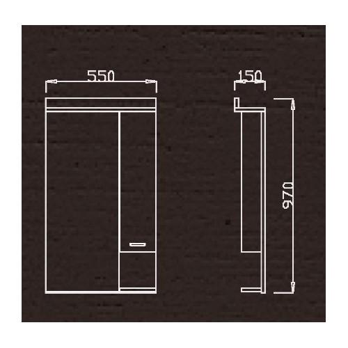 Ormar za kupatilo sa ogledalom K 550 G