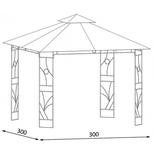 Paviljon Sa Metalnom Konstrukcijom Panama 3 x 3 m